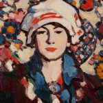 Le Voile Persan, by John Duncan Fergusson (1874-1961), painting, oil on board, © The Hunterian, University of Glasgow 2018