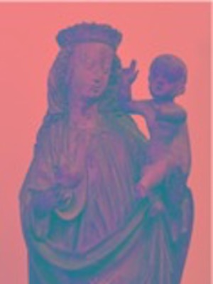 UV image of a medieval sculpture of Madonna and Child, 1480-1500, from the Burrell Collection (courtesy of Theodora-Maria Stasinopoulou-Petrova)
