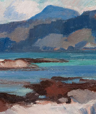 Detail from a Scottish Colourist landscape