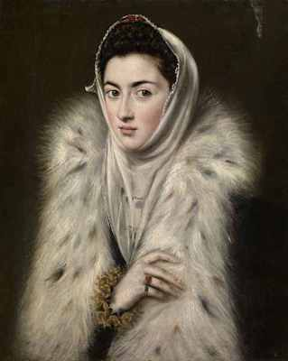 Lady in a Fur Wrap, by Domenikos (El Greco) Theotokopoulos (1541-1614), painting, oil on canvas, Glasgow Museums Collection; © CSG CIC Glasgow Museums Collection