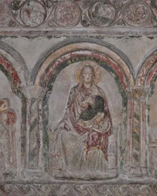Church of Our Lady in Halberstadt, detail of the Virgin Mary with Christ Child, section of choir screen on the south side © Torsten Arnold, Landesamt für Denkmalpflege und Archäologie Sachsen-Anhalt