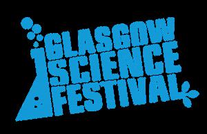 Colour logo of the Glasgow Science Festival