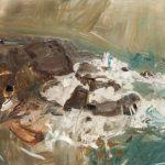 Winter Sea III (c. 1958), by Joan Eardley (1921-1963), painting, oil on board, Hunterian Art Gallery, University of Glasgow