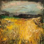 The Cornfield (1958-1962), by Joan Eardley (1921-1963), painting, oil on canvas, Hunterian Art Gallery, University of Glasgow