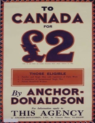Anchor Line shipping company advertising poster, Glasgow University Archive Services, UGD 255/1/40/18a